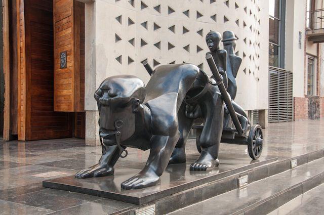 """Dumile Feni. """"History"""" 2003, bronze. Photo by Akona Kenqu"""