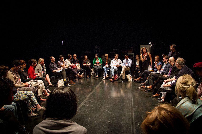 Workshops on Biennial Practice, World Biennial Forum No 2, 2014. Photo: Maycon Amoroso