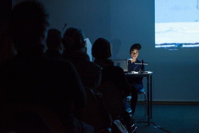 Kapwani Kiwanga, Museum of the Blind, 2015, Lecture Performance Berlin Ethnographic Museum. Courtesy of the artist