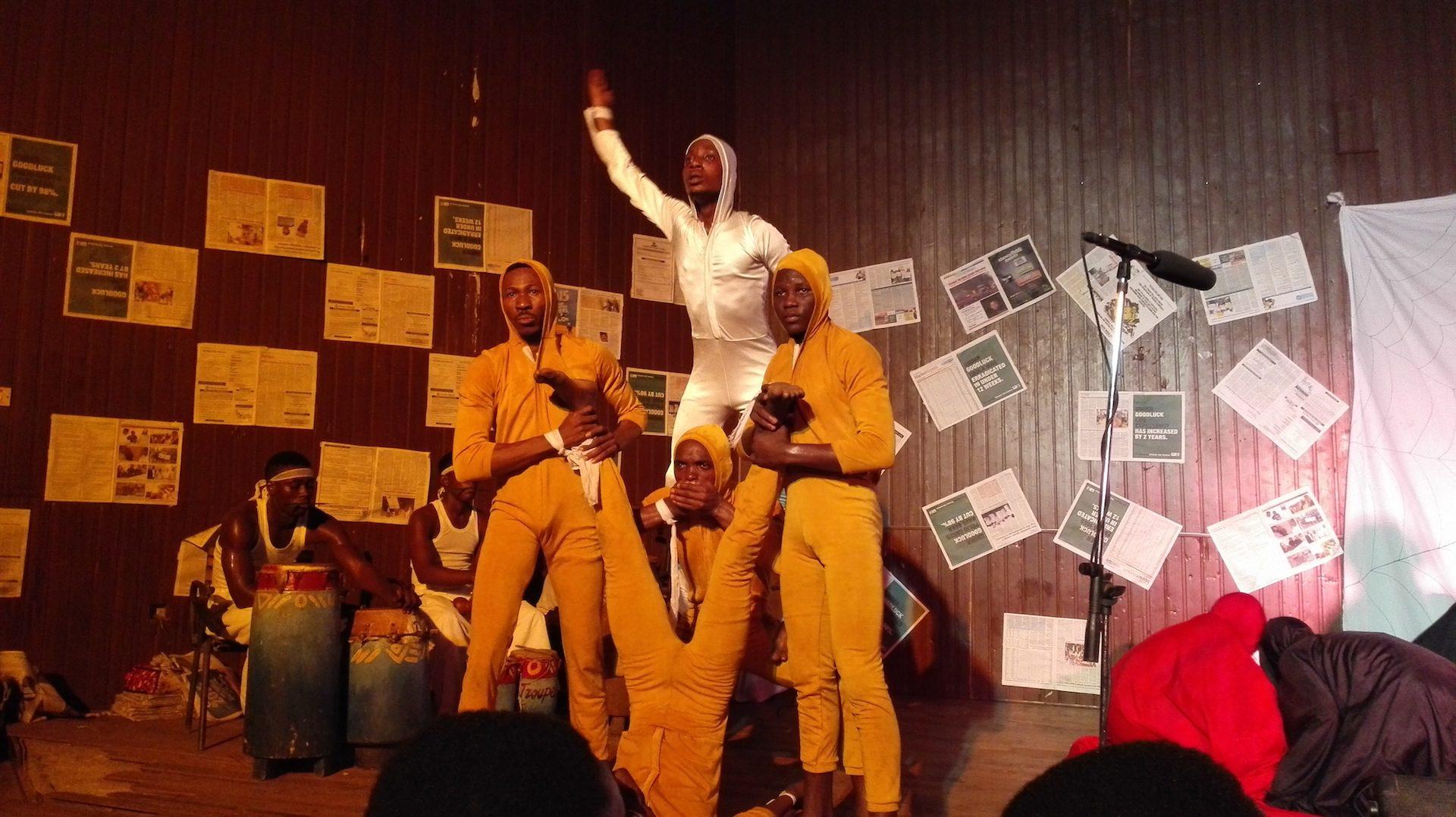 1. Segun Adefila - Kongi's Harvest by Wole Soyinka, play, July 28th, 2015 at University of Lagos Kopie 2
