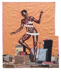 Billie Zangewa, The Rebirth of the Black Venus, 2010. Tapisserie de soie 127 x 130 cm. Collection privée.