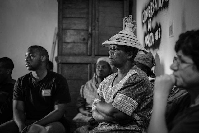 Conversations at Morija #2, 2015. Photo: Meri Hyöky