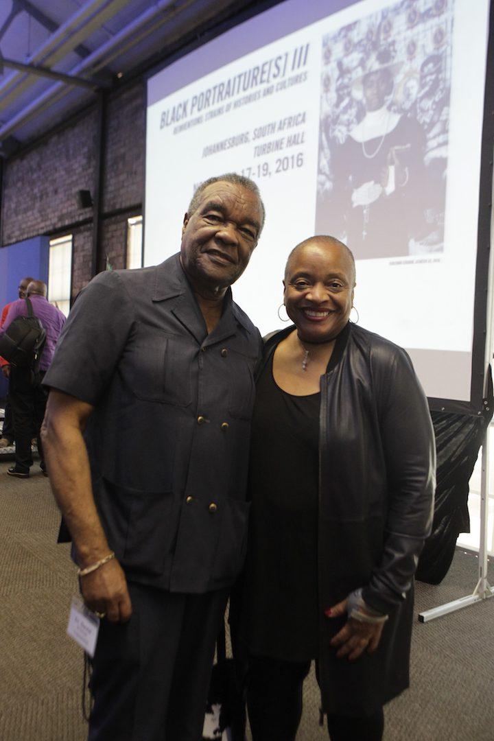 Artist David Driskell and conference co-convenor Deb Willis of NYU. Black Portraiture(s) III, Johannesburg, 2016. © Terrence Jennings